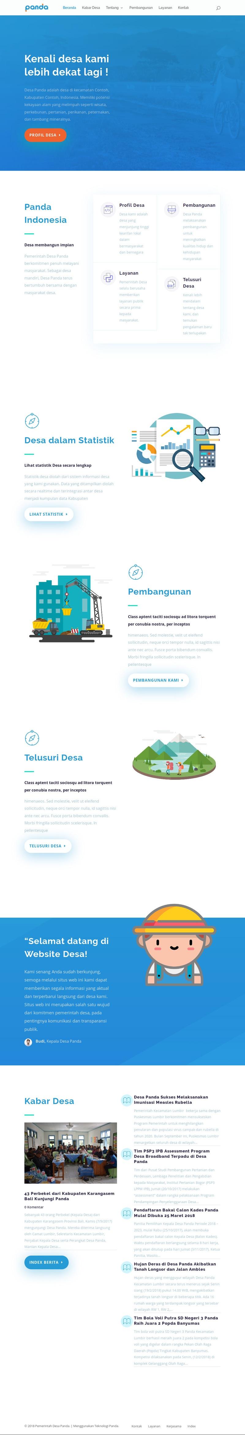 Contoh Website Desa dengan Teknologi Panda