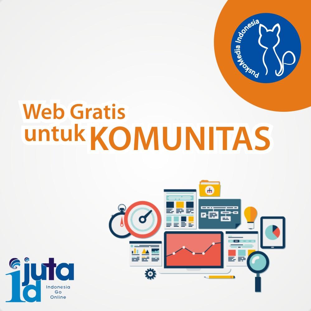 Pendaftaran Website Gratis Komunitas