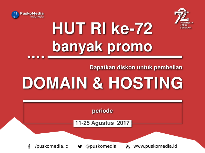 Promo 72 Tahun Kemerdekaan Republik Indonesia