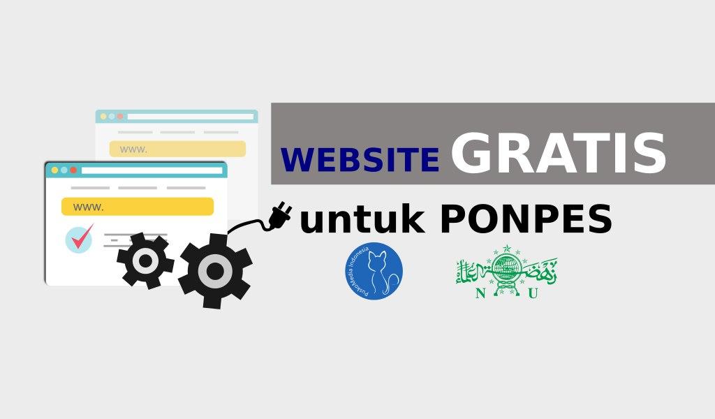 Pendaftaran Website Gratis Pondok Pesantren (Ponpes)